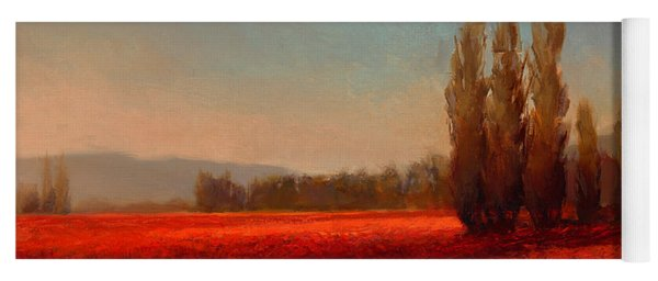 Across The Tulip Field - Horizontal Landscape Yoga Mat