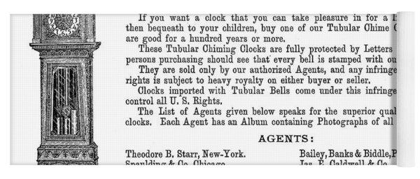 Ad Hall Clock, 1890 Yoga Mat
