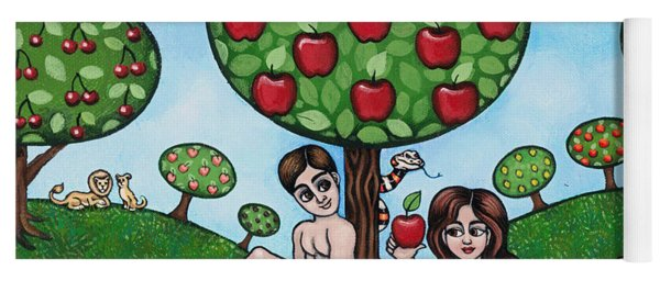 Adam And Eve The Naked Truth Yoga Mat