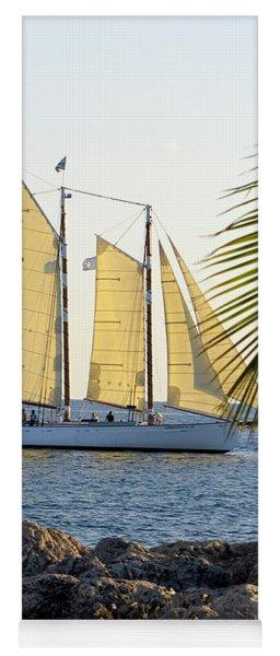 Sailing On The Adirondack In Key West Yoga Mat