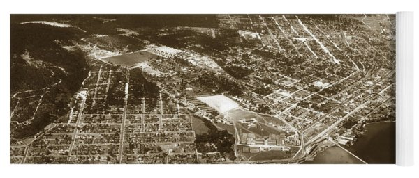 Aerial  Of Monterey Calif. Oct. 25 1934 Yoga Mat