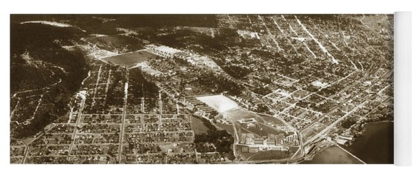 Aerial  Of Monterey Calif. Oct. 25 1934 Yoga Mat