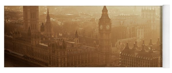 Aerial View Of Big Ben And The Palace Yoga Mat