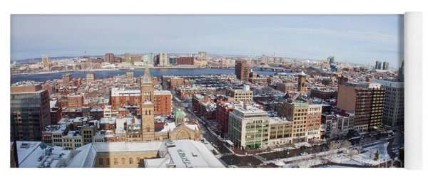 Aerial View Of Copley Square Back Bay And Charles River Yoga Mat