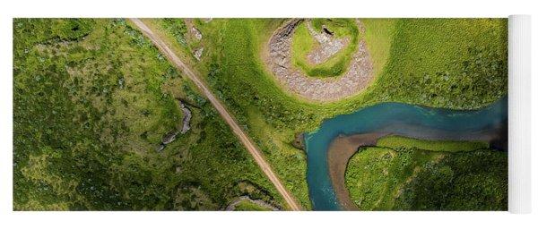 Aerial View Of Skutustadagigar Yoga Mat