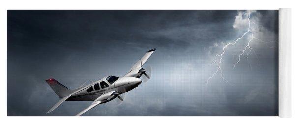 Risk - Aeroplane In Thunderstorm Yoga Mat