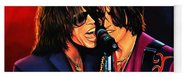 Aerosmith Toxic Twins Painting Yoga Mat