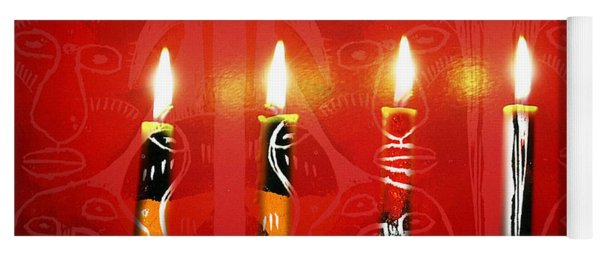 African Candles Yoga Mat