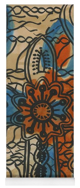 African Cross Yoga Mat
