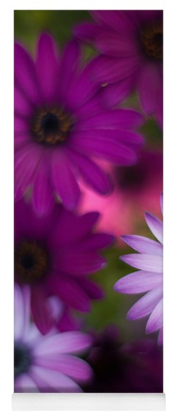 African Daisy Collage Yoga Mat