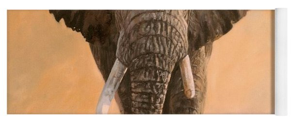 African Elephants Yoga Mat