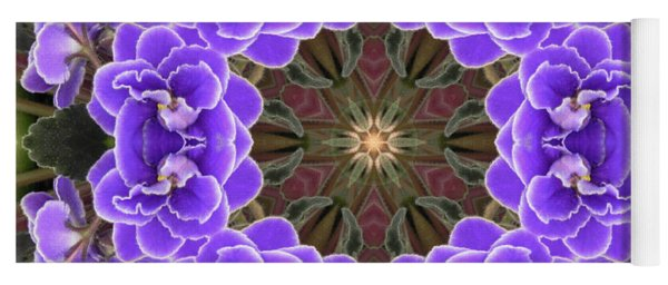 African Violet Mandala Yoga Mat