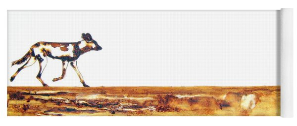 Endangered African Wild Dog - Original Artwork Yoga Mat
