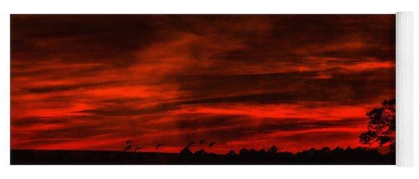 After Sunset Sky Yoga Mat