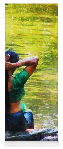 After The River Bathing. Indian Woman. Impressionism Yoga Mat