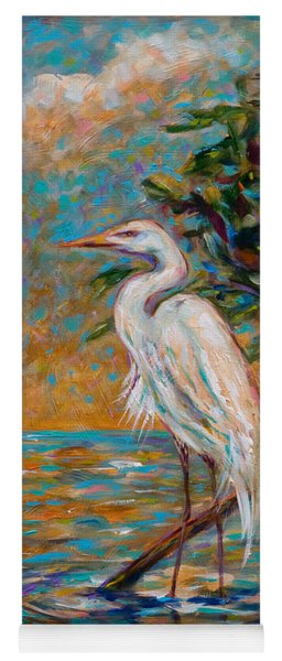 Afternoon Egret Yoga Mat