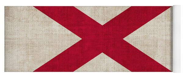 Alabama State Flag Yoga Mat