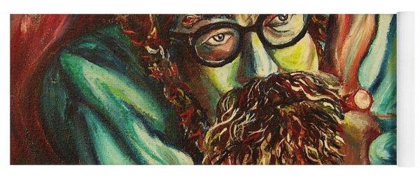 Alan Ginsberg Poet Philosopher Yoga Mat