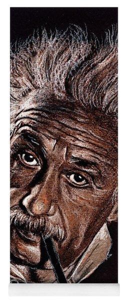 Albert Einstein Portrait Yoga Mat