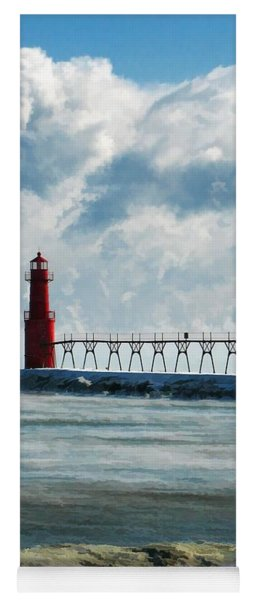 Algoma Pierhead Lighthouse Yoga Mat