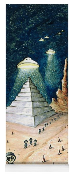 Alien Invasion - Space Art Painting Yoga Mat