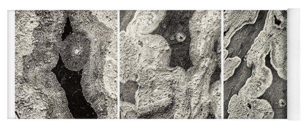 Alien Triptych Landscape Bw Yoga Mat