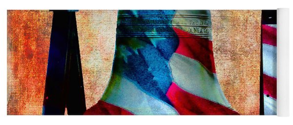 Liberty Bell Art Smooth All American Series Yoga Mat