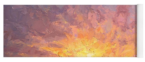 Impressionistic Sunrise Landscape Painting Yoga Mat