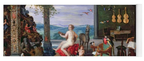 Allegory Of Music Oil On Canvas Yoga Mat
