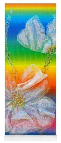 Almond Branch In The Spectrum Yoga Mat