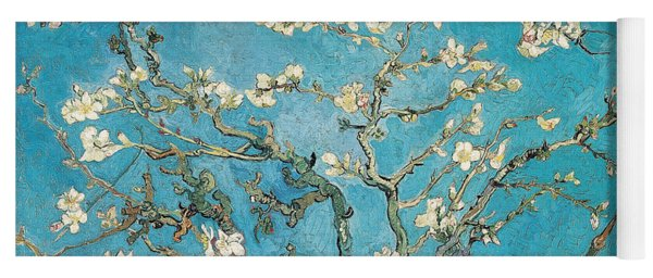 Almond Branches In Bloom Yoga Mat