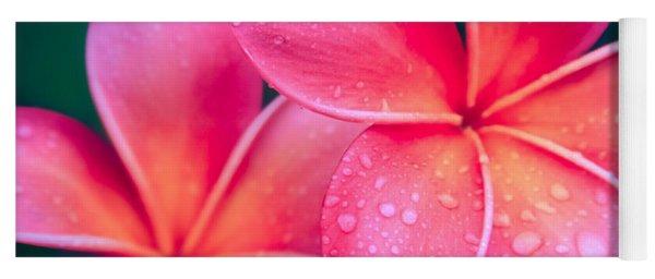 Aloha Hawaii Kalama O Nei Pink Tropical Plumeria Yoga Mat