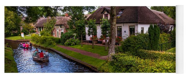 Along The Canal. Giethoorn. Netherland Yoga Mat