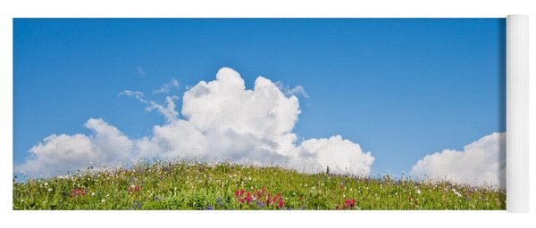 Alpine Meadow And Cloud Formation Yoga Mat