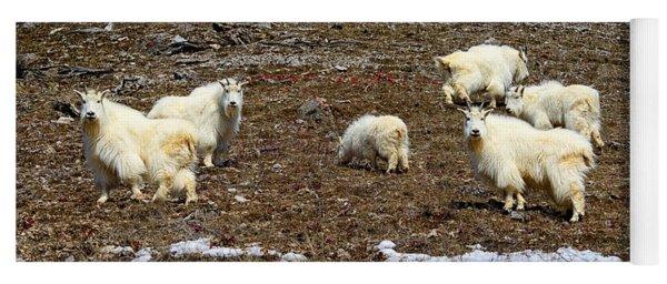 Alpine Mountain Goats Yoga Mat