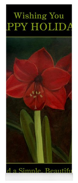 Amaryllis Flower Holiday Card Yoga Mat