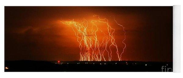 Amazing Lightning Cluster Yoga Mat