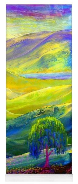 Wildflower Meadows, Amber Skies Yoga Mat