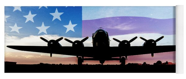 American B-17 Flying Fortress Yoga Mat