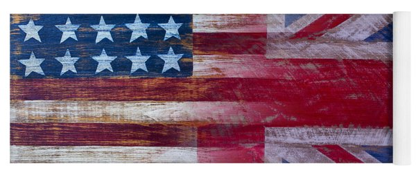 American British Flag 2 Yoga Mat