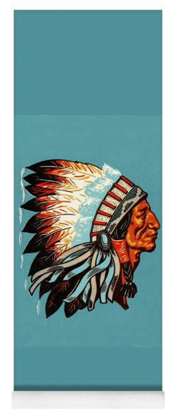 American Indian Chief Profile Yoga Mat