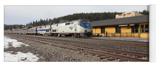 Amtrak California Zephyr Trains At The Snowy Truckee California Train Station 5d27524 Yoga Mat