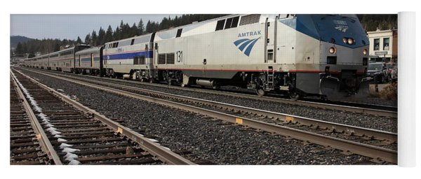 Amtrak California Zephyr Trains In Snowy Truckee California 5d27528 Yoga Mat