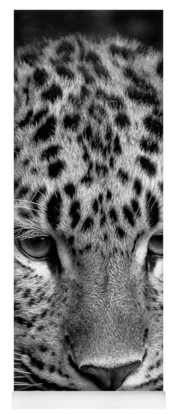 Amur Leopard In Black And White Yoga Mat