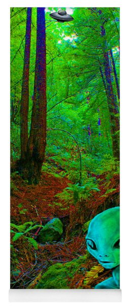 An Alien In A Cosmic Forest Of Time Yoga Mat