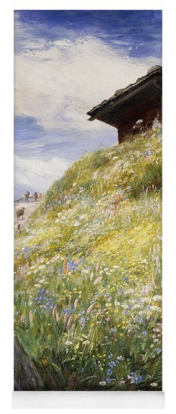 An Alpine Meadow Switzerland Yoga Mat