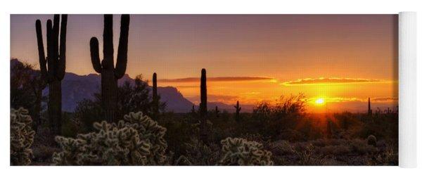 An Arizona Winter Sunrise Yoga Mat