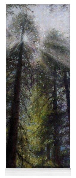 An Enchanted Forest Yoga Mat