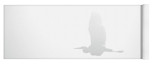 An Ethereal View Of A Great Heron Yoga Mat