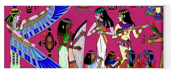 Ancient Egypt Splendor Yoga Mat